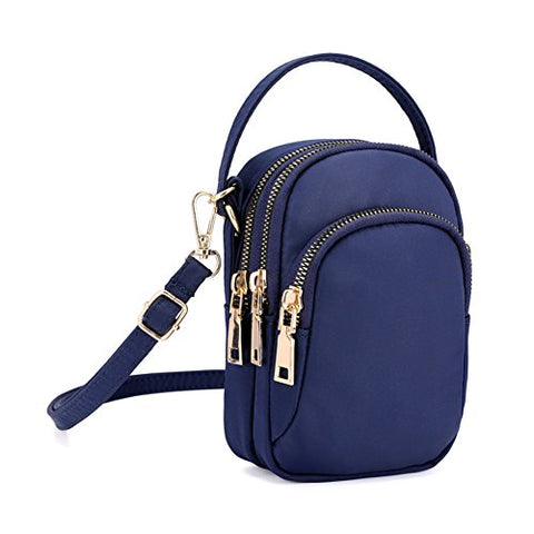 BOBILIKE Small Crossbody Bags Cell Phone Purse Smartphone Wallet for Women, Dark Blue