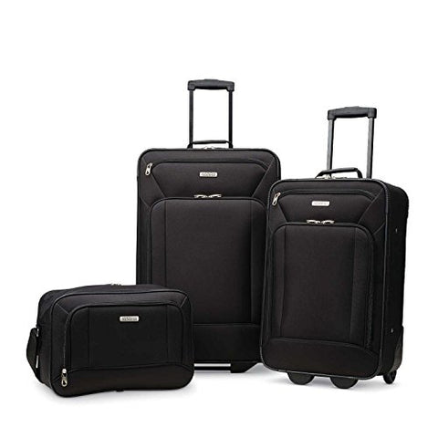 Amazon.com | American Tourister Fieldbrook XLT 3pc Set (bb/ 21/25 Upright), Black | Luggage Sets
