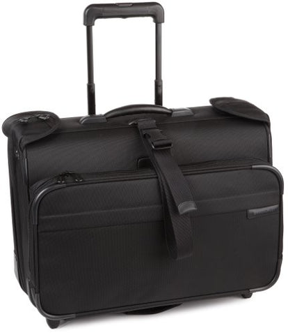 Briggs & Riley Carry-On Wheeled Garment Bag,Black,14X21X8.5