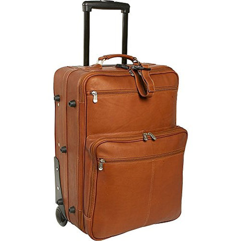 Piel Leather 22 Inch Wheeled Traveler, Saddle, One Size