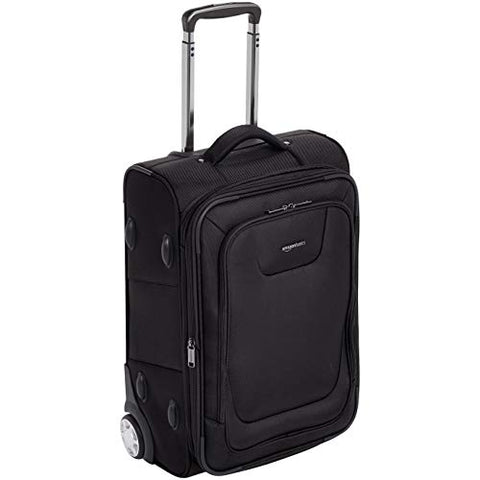 AmazonBasics Expandable Softside Carry-On Luggage Suitcase With TSA Lock And Wheels - 24 Inch, Black