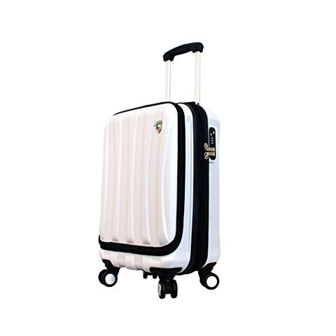 Mia Toro Luggage Tasca Fusion Hardside Spinner Carry-On, White, One Size