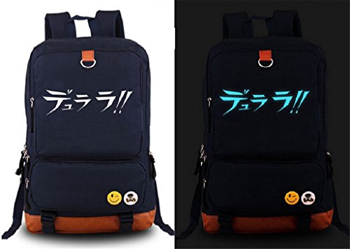 Siawasey Anime Durarara!! Cosplay Luminous Backpack Shoulder School Bag