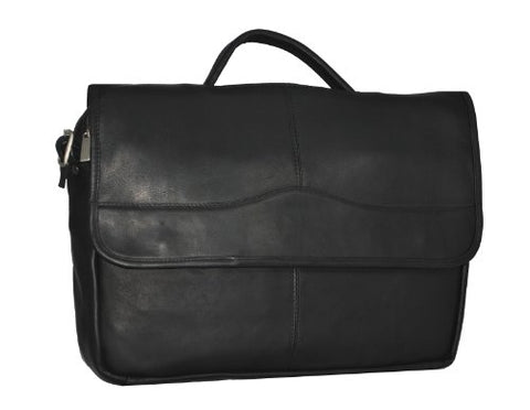 David King & Co. Porthole Briefcase Simple, Black, One Size