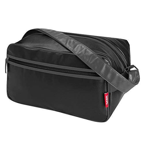 Cabin Max️ Arezzo Stowaway XL - 8x14x9 20L Underseat Carry On Luggage - Perfect Weekender Bag Messenger Bag for Overnight Stays! (Black/Charcoal)