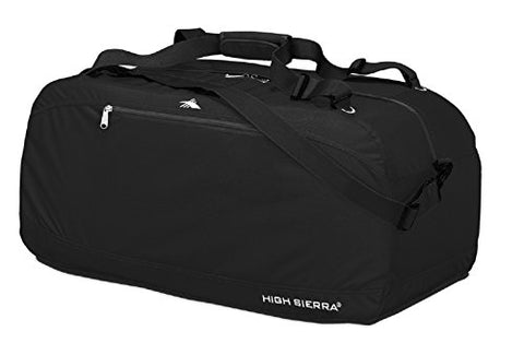 "High Sierra 36"" Pack-N-Go Duffel, Black/Black/Black"