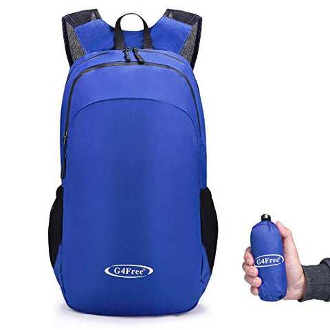 G4Free Ultra Lightweight Packable Small Backpack Casual Handy Hiking Daypack 18L(Blue)