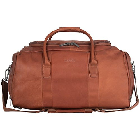 "Kenneth Cole Reaction Colombian Leather 20"" Carry Duffel Bag, Cognac, One Size"