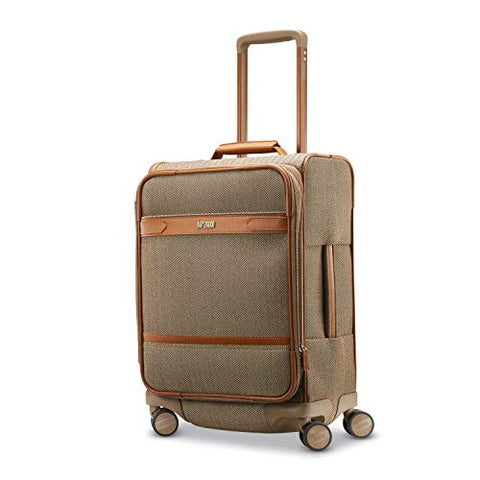 Hartmann Herringbone Deluxe Domestic Carry On Expandable Spinner (Terracotta Herringbone)