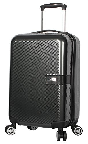 "Nicole Miller New York Ria Collection Hardside 20"" Luggage Spinner (20 in, Ria Charcoal)"
