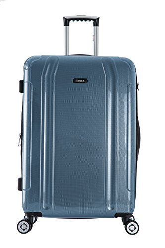 "Inusa Southworld Lightweight Hardside Spinner Blue Carbon/20""L x 13""W x 27""H"