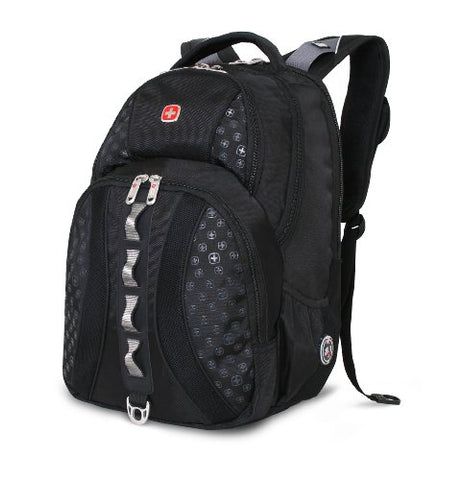 Swiss Gear Sa9768 Black Laptop Backpack - Fits Most 15 Inch Laptops And Tablets