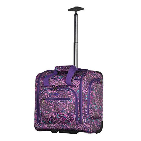 Olympia Under The Seat Carry-on, Purple Paisley