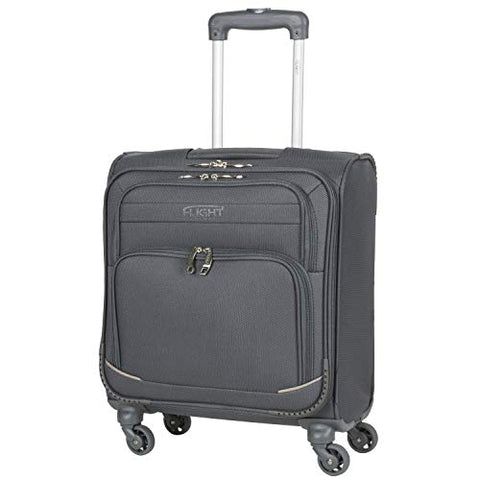 Flight Knight Lightweight 4 Wheel 300D Soft Case Suitcases Maximum Size For Vueling - Cabin Charcoal FFK0032_S