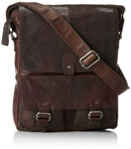 Jack Georges Spikes North South Messenger, Brown, One Size