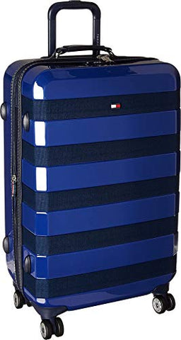 Tommy Hilfiger Rugby Stripe 25 Inch Hardside Luggage, Navy