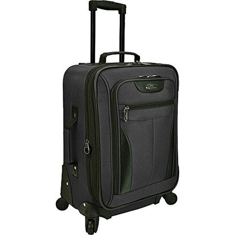 "U.S. Traveler Charleville 20"" Carry On Expandable Spinner Luggage In Black"