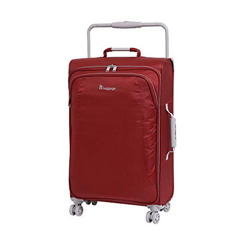 "IT Luggage 27.6"" World's Lightest 8 Wheel Spinner, Bossa Nova With Vapor Blue Trim"
