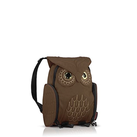 Darling's Owl Water Resistant Lightweight Backpack - Small - Chocolate