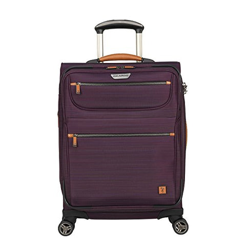Ricardo Beverly Hills San Marcos 21-Inch 4-Wheel Wheelaboard Luggage, Violet Purple