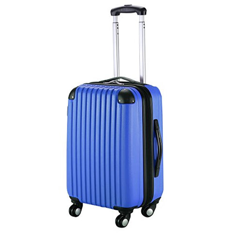 "Goplus New Globalway 20"" Expandable Abs Carry On Luggage Travel Bag Trolley Suitcase (Navy)"