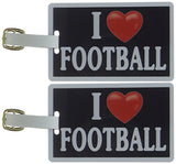 Tag Crazy I Heart Football Two Pack, Black/White/Red, One Size