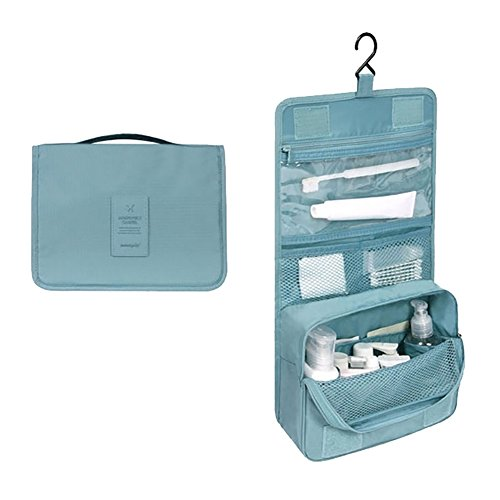 Vigourtrader Women Hanging Cosmetic Bag Traveling Toiletry Bag Makeup Organizer Men Shaving Kit