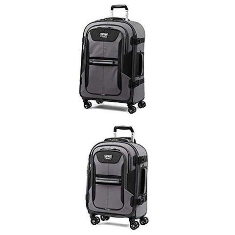 "Travelpro Bold Expandable Spinner Luggage (21"" Carry-On + 26""Checked-Medium, Gray/Black)"