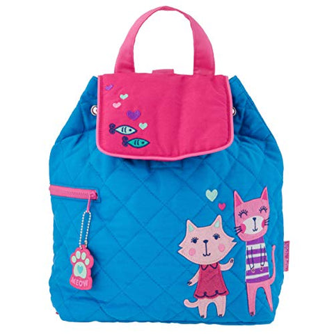 Stephen Joseph Kids' Toddler Quilted Backpack, Cats, No No Size