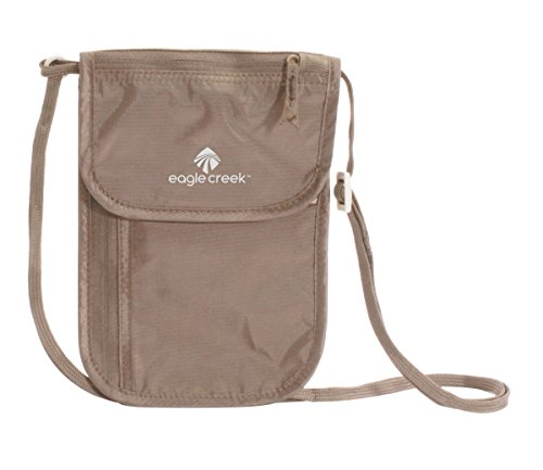 EAGLE CREEK TRAVEL GEAR Undercover Neck Wallet Deluxe, Khaki