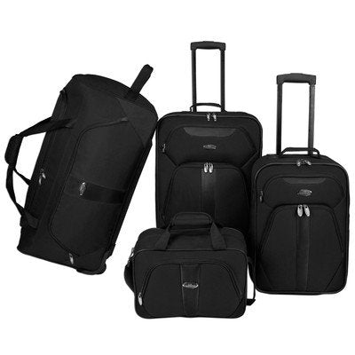 U.S. Traveler 4-Pc Luggage Set (Black)
