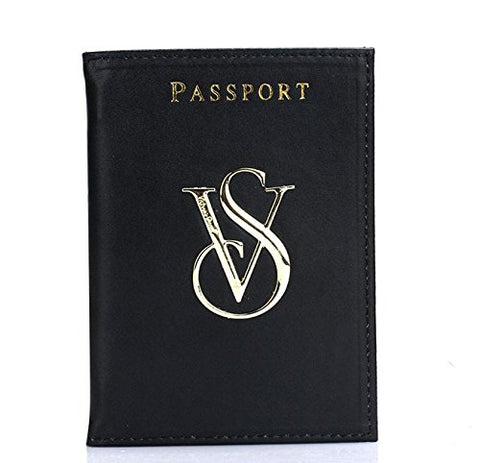 New Fashion Victorias Secret Passport Holder Vs Logo Of Passport Suit (Black)