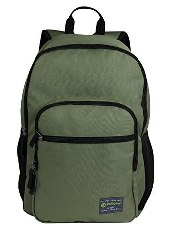 ecogear Laptop Dhole Backpack, Olive Green One Size
