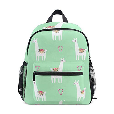 GIOVANIOR Llama Alpaca Love Lightweight Travel School Backpack for Boys Girls Kids