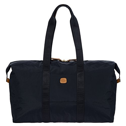 Bric's X x-Travel 2.0 22 inch Cargo Overnight/Weekender Folding Duffle Duffel Bag, Navy, One Size