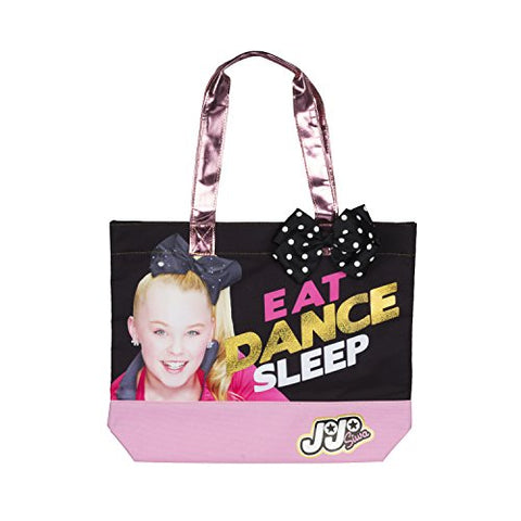 Nickelodeon Jojo Siwa Eat Purse, Dance, Sleep Tote Bag With Polka Dot Bow