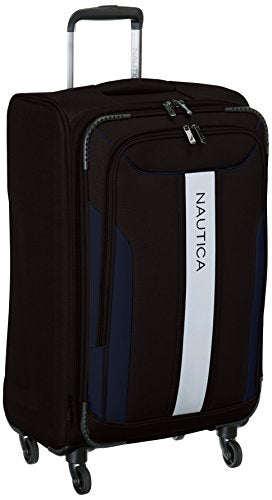 Nautica Gennaker 24 Inch Expandable Luggage Spinner, Black/Navy