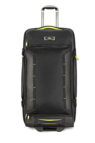 High Sierra At8 Wheeled Upright Duffel Bag, Black/Zest, 32""