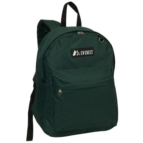 Everest Luggage Classic Backpack, Dark Green, Large