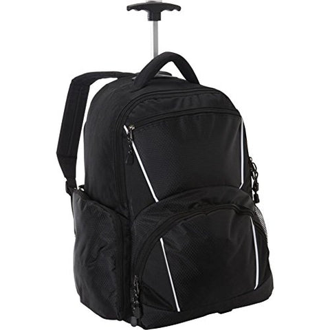 Bellino Rolling Computer Backpack, Black