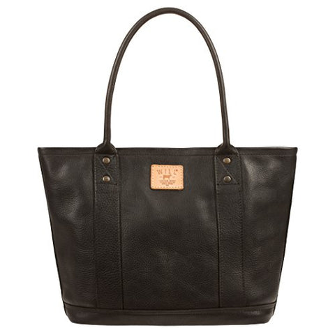 Will Leather Goods Women's Signature Leather Everyday Tote, Black