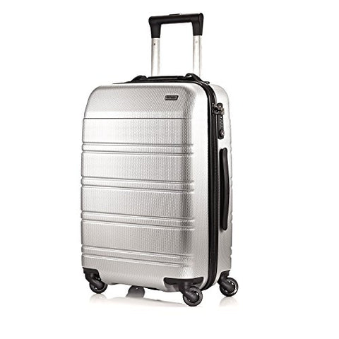 Hartmann Vigor 2 Carry On Spinner, Hardsided Rolling Luggage in Glacial Silver