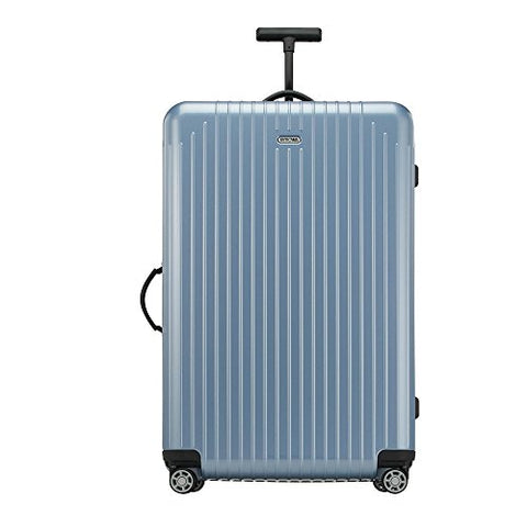 "Rimowa Salsa Air Polycarbonate Carry on Luggage 29"" Inch Ultralight Cabin Multiwheel 80 L Spinner Suitcase Ice Blue"