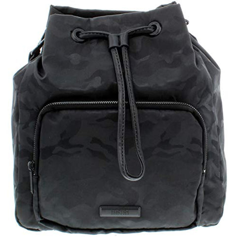 Kenneth Cole Reaction Womens Ruby Faux Leather Trim Backpack Black Medium