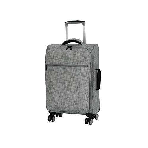 "it luggage 21.5"" Stitched Squares Lightweight Case, Flint Grey"