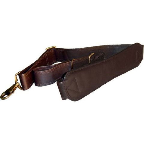 Winn International Ergonomic Leather Shoulder Strap In Brown