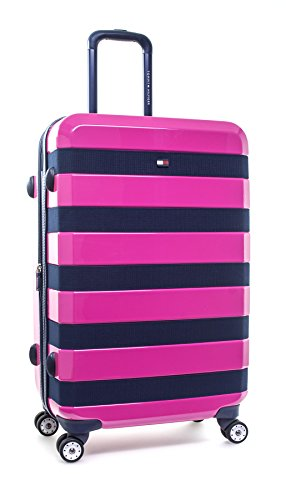 "Tommy Hilfiger Rugby 25"" Expandable Hardside Spinner, Pink"