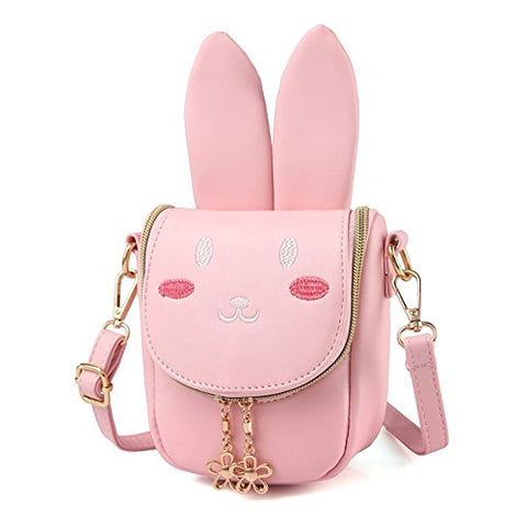 Yuboo Cute Bunny Purse Girls Rabbit Crossbody Bag For Kids And Toddlers (5Colors) (1-Pink)