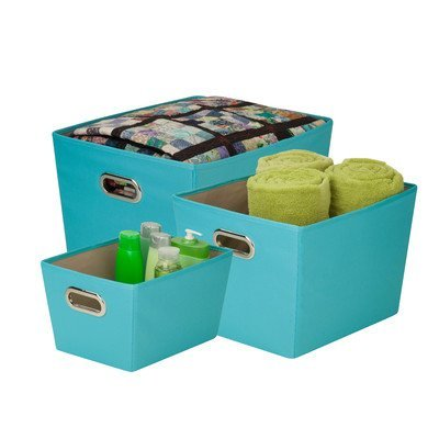 3 Piece Tote Set Color: Turquoise