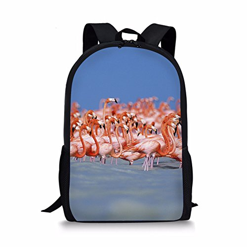 Thikin 3D Cut Outdoor Animal Backpack Teens School Book Bag